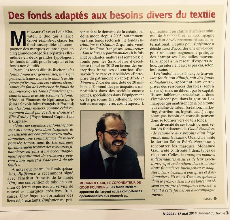 fonds secteur textile